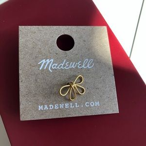 NWT Madewell bow mini earrings single one